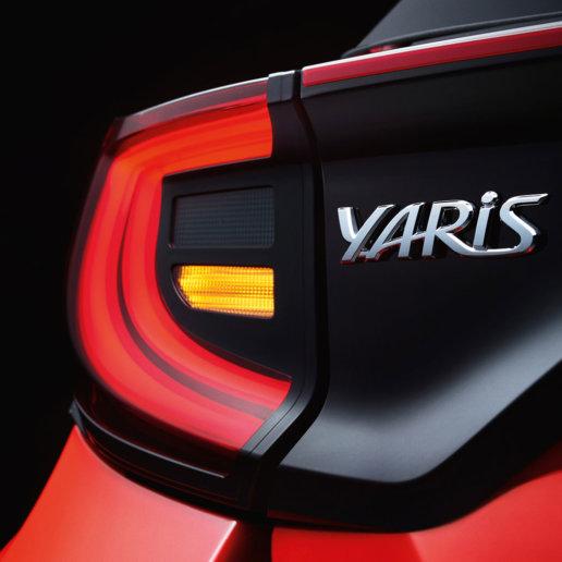 Toyota Yaris Rücklicht und Modellbezeichnung