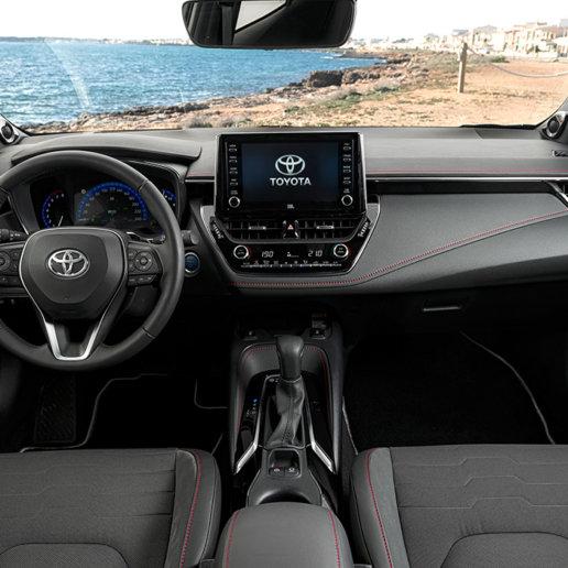 Toyota Corolla Cockpit Ausblick Strand