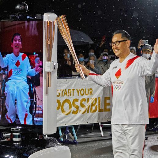 Fackellauf Akio Toyoda Olympische Sommerspiele 2021 Japan