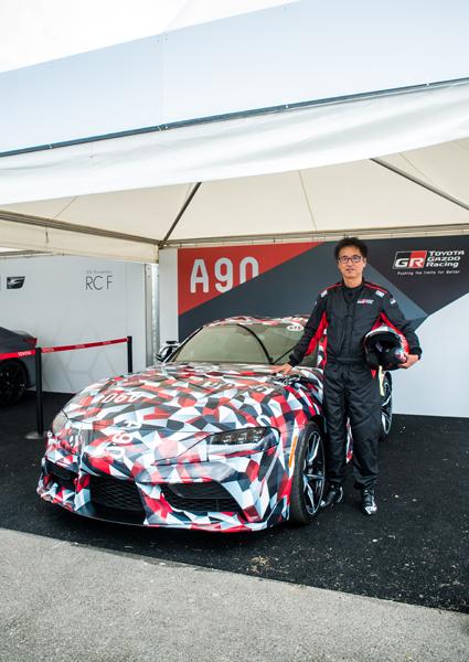 Tetsuya Tada am Toyota GR Supra