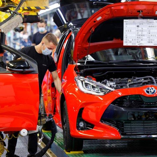Toyota Yaris Produktion in Valenciennes Frankreich